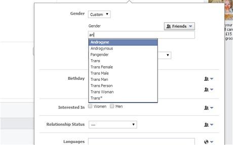 페이스북, 가입시 선택 가능한 성(性) 50가지…당신은?