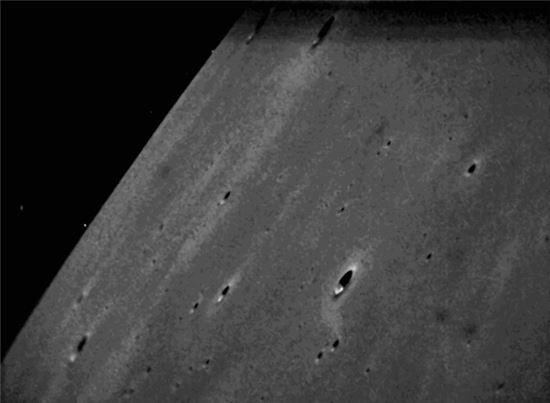 ▲달 탐사선 라디가 보내온 달 표면.[사진제공=NASA Ames]