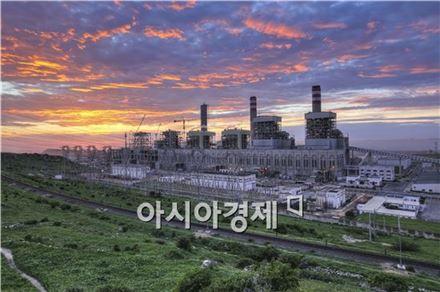 모로코 조르프라스파 석탄화력발전소 현장 전경 (사진제공 : 대우건설)