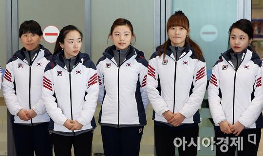 [포토] 소치 올림픽 마치고 귀국하는 컬링 대표팀
