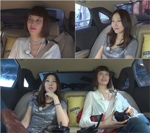 ▲송경아 한혜진.(출처: tvN '현장토크쇼 택시')