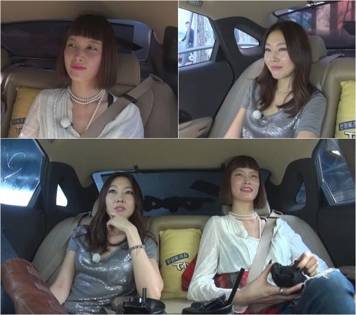 ▲한혜진, 송경아.(출처: tnN 예능프로그램 방송 캡처)