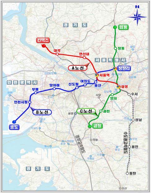 수도권 광역급행철도(GTX) 3개노선 모두 추진 (종합)