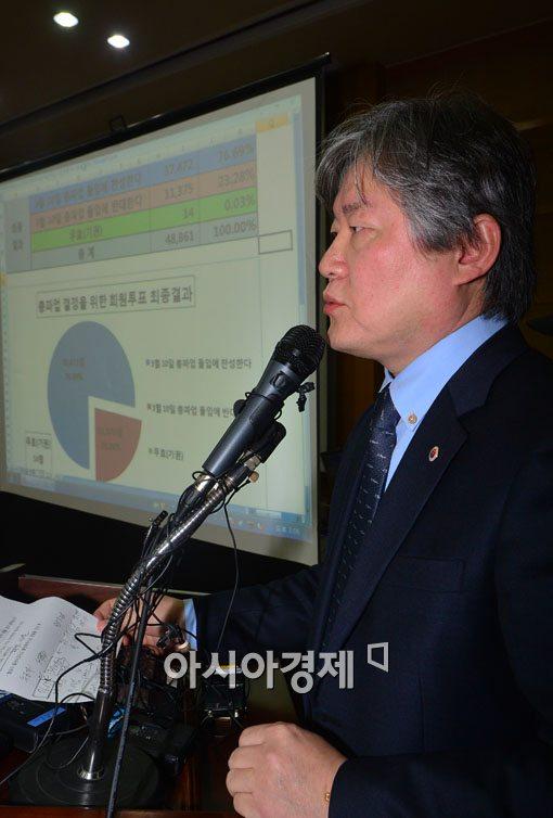 [포토]총파업 투표결과 발표하는 노환규 의사협회장