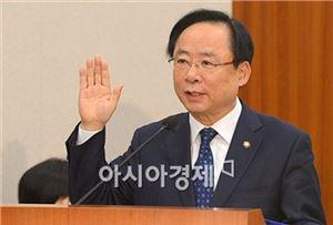 3월4일 국회에서 열린 인사청문회에 참석한 이주영 당시 해양수산부 장관 후보자.