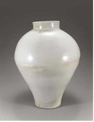 백자대호, 18세기, 높이: 61.0cm, 입지름: 19.5cm, 굽지름: 18.5cm.