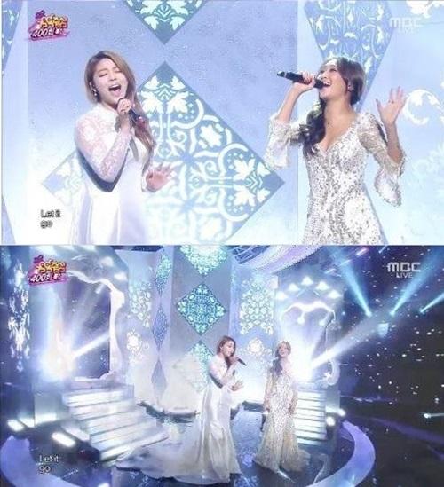 ▲에일리 효린 렛잇고.(출처: MBC 예능프로그램 방송 캡처)