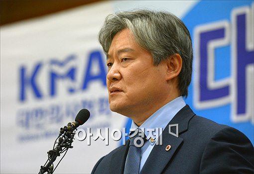 [포토]호소문 발표하는 노환규 의사협회장