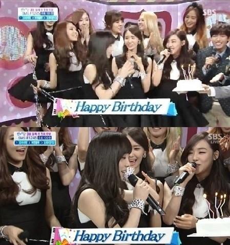 ▲소녀시대 태연 생일파티. (출처: 온라인커뮤니티)