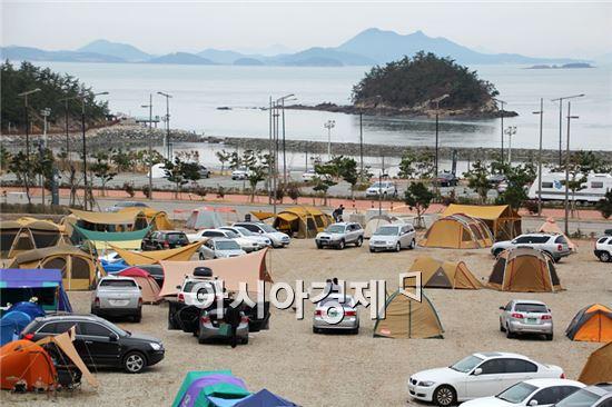해남군 '가족캠핑 페스티벌' 축제 개최