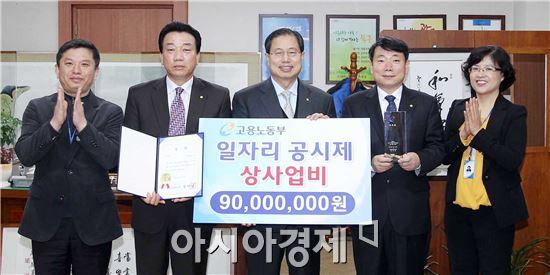 [포토]광주 북구, '지역 일자리 공시제' 우수상 수상