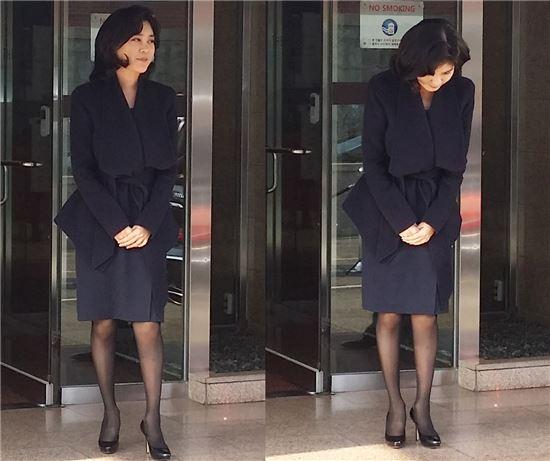 [포토]인사하는 이부진 호텔신라 사장