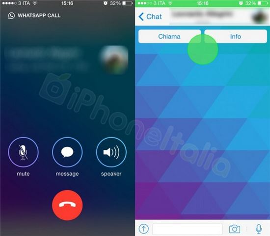 와츠앱 음성통화 iOS서 구현된 스크린샷 공개