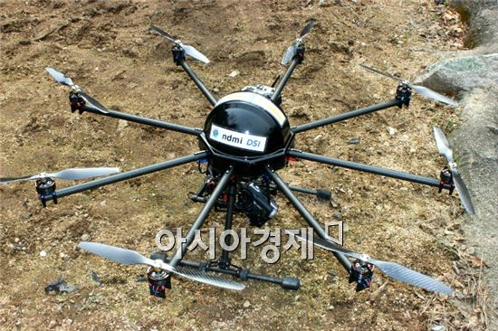 국립재난안전연구원이 개발 중인 산불 감시용 자율비행로봇. 사진제공=안전행정부