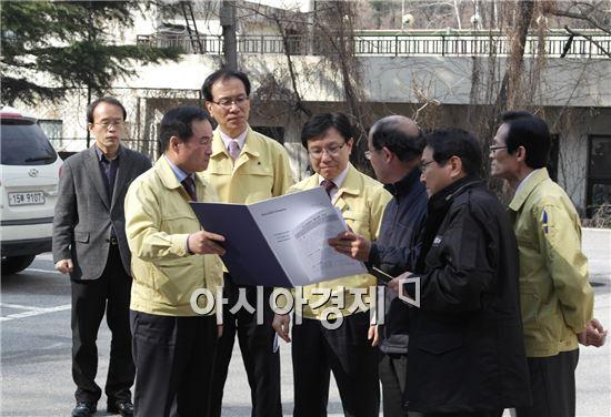 [포토]오형국 광주시 행정부시장, 해빙기 재해위험지역 점검