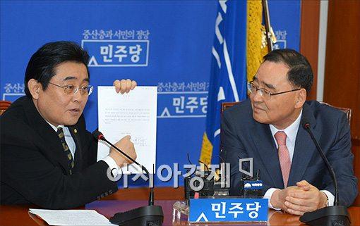[포토]민주당 찾은 정홍원 총리
