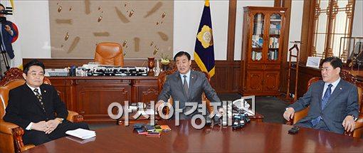 [포토]강창희 의장 만나는 여야 원내대표