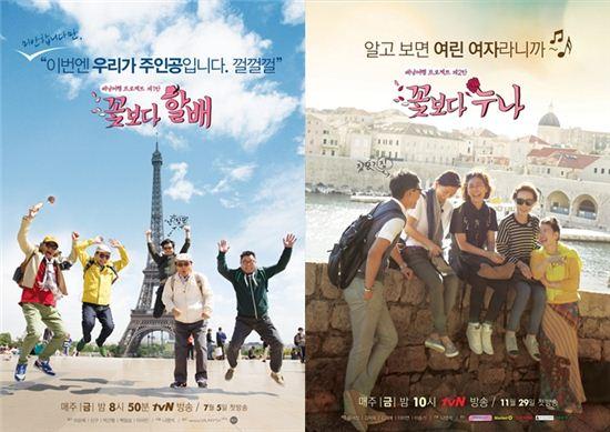 '꽃할배'-'꽃누나', 중국서 제작…대륙의 인기 프로그램으로 부상할까