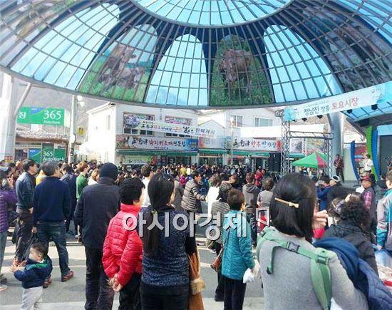 장흥토요시장, '한국 관광의 별'후보에 올라