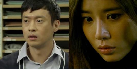 ▲ 신의 선물 용의자 오태경(왼쪽), 이보영.(출처: SBS 방송 캡처)
