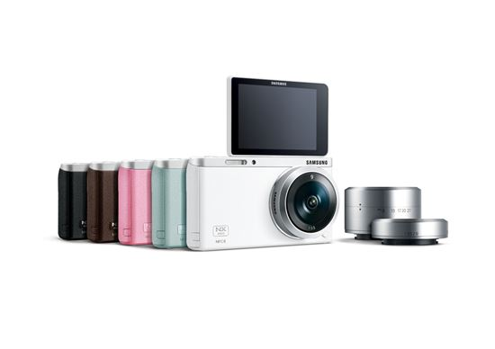 삼성전자의 미러리스 카메라 'NX 미니'