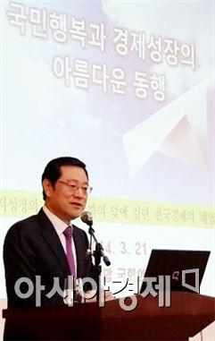 이용섭 의원, 한국경제 바로세우기 해법 제시