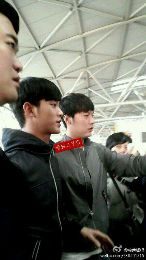 ▲김수현 대만 공항.(출처: 웨이보)