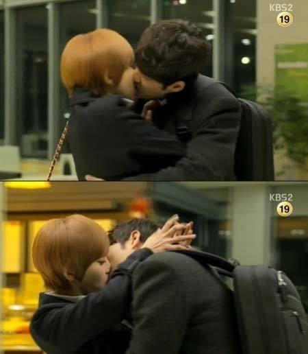 ▲서준영과 나르샤가 '사랑과 전쟁2'에서 키스신 선보여.(출처: KBS2 드라마 방송 캡처)