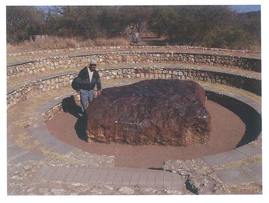 ▲65톤의 세계에서 가장 큰 호바운석.[사진제공=국립과천과학관]