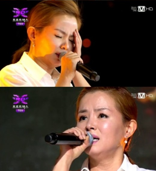 ▲나미애 가창력.(출처: Mnet 예능프로그램 방송 캡처)