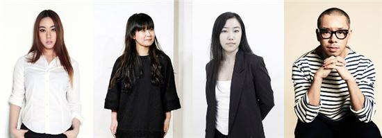 ▲ 'CFDK with CJ오쇼핑' 컬렉션에 참여하는 4인의 신진 디자이너.(좌측부터 계한희, 이정선, 양유나, 장민영)