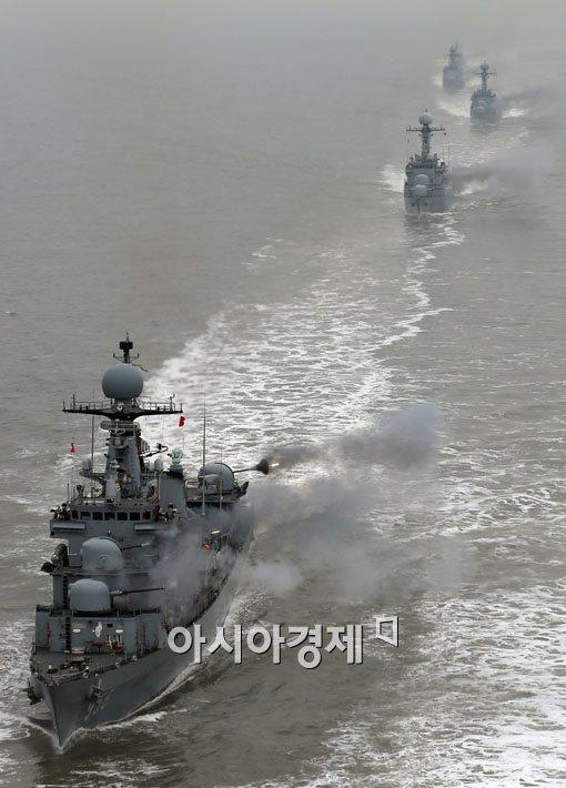 [포토]해상기동훈련에 나선 초계함