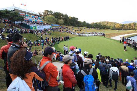지난해 한국오픈 경기 장면. 사진=KGT제공