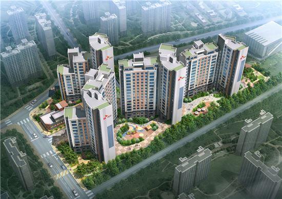 SK건설이 24일 수주에 성공한 서울 대치동의 대치국제아파트 재건축 사업 조감도