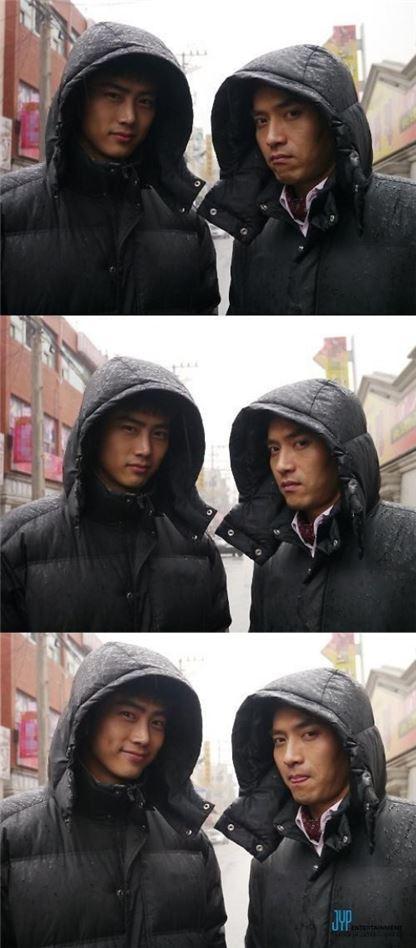▲옥택연과 박주형 (출처: JYP Actors 페이스북)