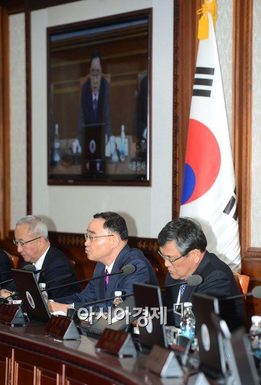 [포토]국무회의 참석한 정홍원 국무총리