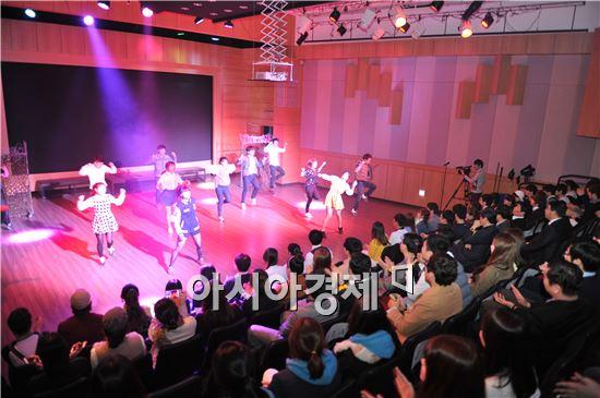 공연전용극장 '호남대 랄랄라극장' 개관식이 25일 개최했다. 개관후  '뮤지컬갈라' 공연을 펼쳤다.