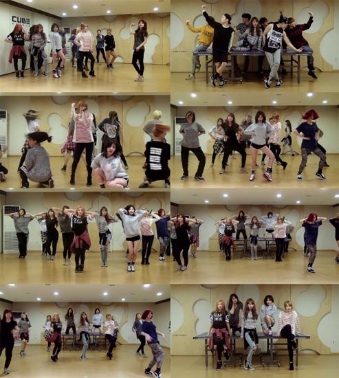 ▲그룹 포미닛이 유투브에 올린 안무영상이 화제다.(출처: 유투브 동영상 캡처)