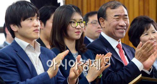 [포토]교육기부단 발대식 개최, 참석한 이원희-심석희-한상대