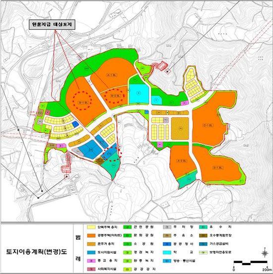 군포송정지구 토지이용계획도