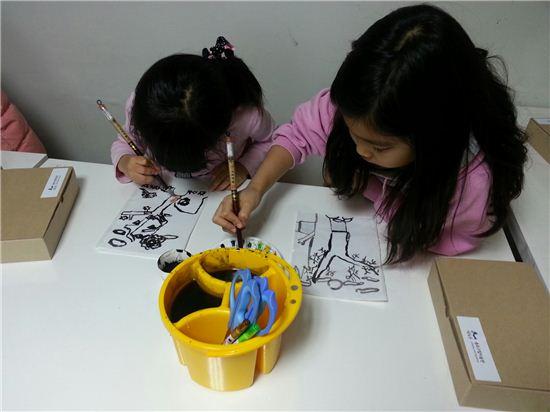박노수 미술관 교육프로그램에 참여하고 있는 어린이들