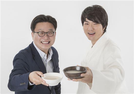 서경덕 교수(왼쪽)와 배우 송일국.