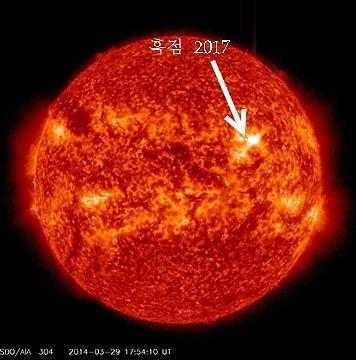 ▲태양 흑점 폭발 후 피해는 어느정도?(출처:미래창조부)
