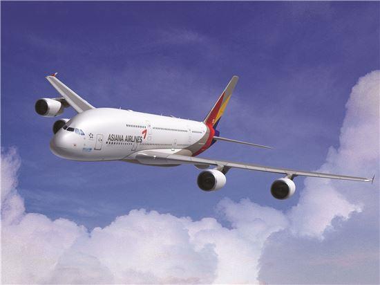 아시아나항공이 5월부터 도입하는 A380기.