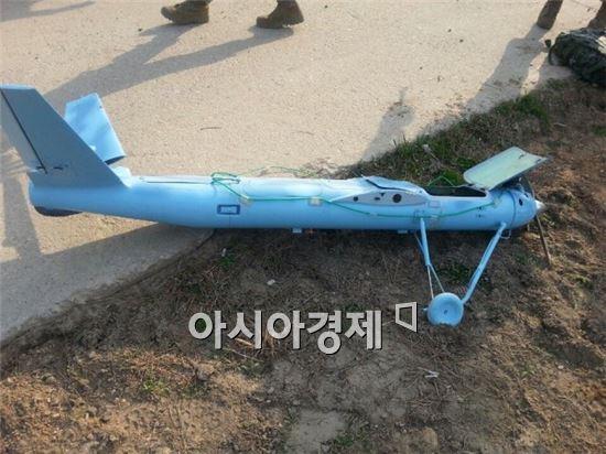 백령도에 추락한 북한의 무인항공기