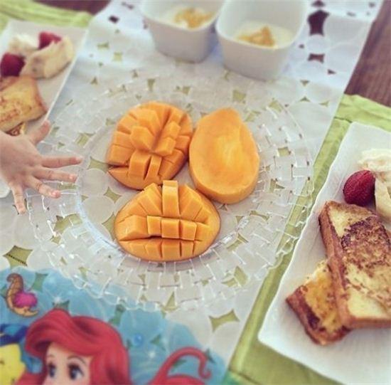 ▲야노시호 아침 식단. (출처: 야노시호 인스타그램 캡처)