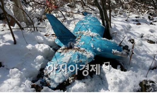 동해안에 추락한 북한제로 추정되는 무인항공기
