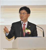 취임사를 하고 있는 김화동 한국조폐공사 사장