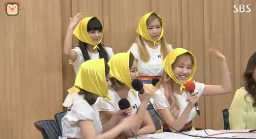 ▲크레용팝(SBS'두시탈출 컬투쇼' 방송 캡처)