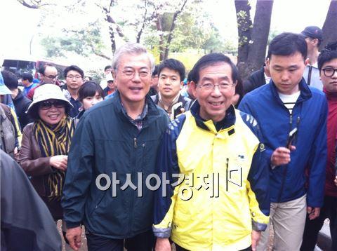 문재인 새정치민주연합 의원(왼쪽) 박원순 서울시장(오른쪽)